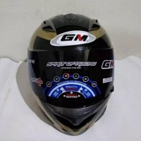 HELM FULLFACE GM RACE PRO X RIDE BLACK GOLD