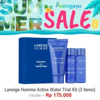 [sarogayo] READY Laneige Homme Active Water Trial Kit 3 Items For Men