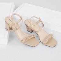 Guzzini ND 754 Tan Cream - Sandal Heels Tali tumit petak 5cm