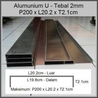 Heatsink Alumunium Plat 2mm L20.2 X T2.1cm
