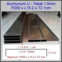 Heatsink Alumunium Plat 1.5mm L15.5 x T2.1cm