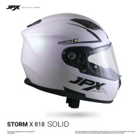 JPX Full Face Storm X818 Solid - Pearl White/Gloss