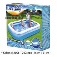 Kolam Renang Anak Bestway Blue Rectangular Family Pool 262cm #54006