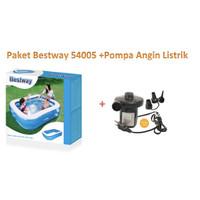 PAKET Bestway 54005 Rectangular Kolam Family Pool + Pompa Listrik