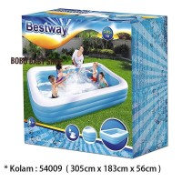 Kolam Renang Anak Bestway Jumbo Rectangular Family Pool 305cm #54009