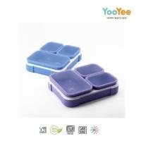 Yooyee Kotak Makan 3sekat (#640) Anti Nyampur Anti Tumpah