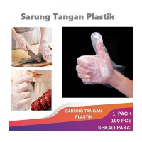 Sarung Tangan Higienis Perlindung Tangan Plastik Isi 100