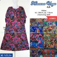 Daster Batik Kencana Ungu L3 Jumbo Label Biru