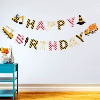 Bunting Flags / Banner Happy Birthday HBD Construction