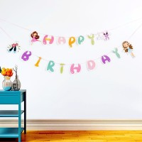 Bunting Flags / Banner Happy Birthday HBD Ballerina