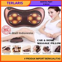 Bantal Pijat portable Car and Home Masage Pillow - 1 colokan