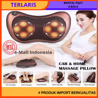 Bantal Pijat portable Car and Home Masage Pillow - 2 colokan