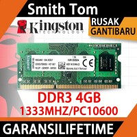 Ram laptop kingston SODIMM 4GB DDR3 DDR3-1333 4G sodim