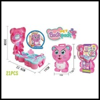 Mainan Anak Salon - Pet Backpack Cat Princess Make up