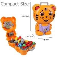 Mainan Anak Pet Backpack Tiger Engineer Tas Alat Tukang Builder Fun