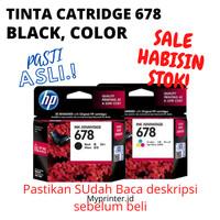Tinta Hp 678 catridge black dan colour murah