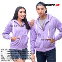 Lavender / Hoodie Lavender / Hoodie Zipper / Sweater / Jaket pria - M