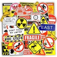 50 pcs Stiker Danger Alert Warning Koper Rimowa Sticker