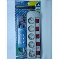 Stop Kontak Arde Uticon ST-1582 SW - 5 Lubang