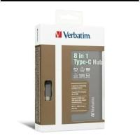 Verbatim Hub 8 in 1 Type C hub Card reader Hdmi Usb SD Card Rj45 66148