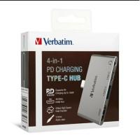 Verbatim 4 in 1 PD Charging Type C HUB Hdmi Usb Jack Audio 66347 Ori