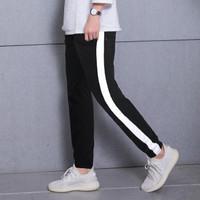 Celana Luna Side Stripe Track Pants For Men/Women Street Style