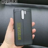 Xiaomi Redmi 9 9A 9C Case Kulit Jeruk Carbon Leather Auto Focus