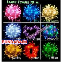 LAMPU TUMBLER 10 METER LT10 / LAMPU HIAS NATAL TUMBLR 10M TWINKLE