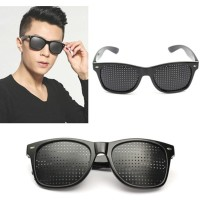 Kacamata Terapi Anti Myopia Pinhole Glasses Warna Hitam