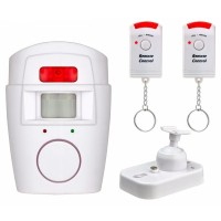 EMASTIFF Alarm Anti Maling Infrared PIR Sensor Gerak 2 Remote