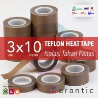 TEFLON Heat Tape COKLAT 30 mm x 10 meter Isolasi Anti Panas