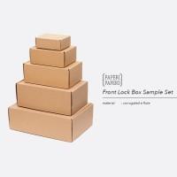 Sample Set Front Lock Box Setiap Ukuran - Sampel Contoh Kotak Kue