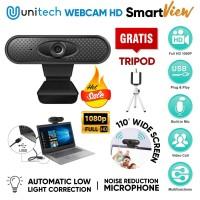 Webcam Unitech Full HD 1080P Kamera Auto Fokus + Microphone Smartview