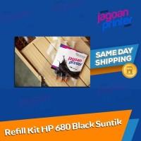 Refill Isi Ulang Tinta Ink Printer HP 680 Black Hitam HP 2135