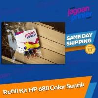 Refill Isi Ulang Tinta Ink Printer HP 680 Color Warna HP 2135