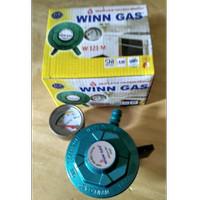 Regulator WINN GAS W 121 Manometer Untuk tabung Bright dan LPG