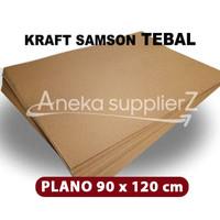 Kertas Karton Samson Kraft Coklat tebal 280 gsm (Plano)