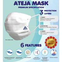Masker Kain ATEJA MASK 3 Ply Filter Earloop Bisa Dicuci Pakai Ulang