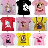 Kaos Baju Atasan Anak Perempuan Size 1-6 Tahun