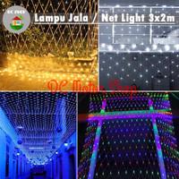 Lampu Natal / Hias Lampu Led Jala / Jaring / Net Light 3x2 M / 3 x 2 m - Mix