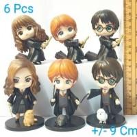 Figur Harry Potter 6 Pcs Chibi - Action Figure Mainan Pajangan