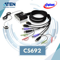 ATEN CS692 KVM Switch Cable USB 2-port HDMI with Audio