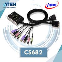 ATEN CS682 KVM Switch Cable USB 2-port DVI with Audio