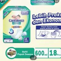 confidence insert pads pad lapisan penyerap popok dewasa 600 ml 800 ml