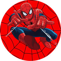 Cup Cake Topper Ulang Tahun Happy Birthday Spiderman 5.6cm 15pcs