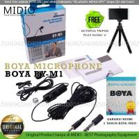 Microphone Mic Clip On Boya BY-M1 Lavalier - M1 BONUS EXTRA