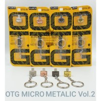OTG FLECO Mini Metalic Micro USB Original + Gantungan Kunci