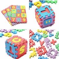 Puzzle FOAM Aplhabet dan Angka 36pcs