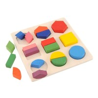Puzzle 3D Geometry Mainan Balok Anak TOY01