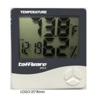 Digital Temperature Humidity Meter Clock Calender Alarm HTC-1